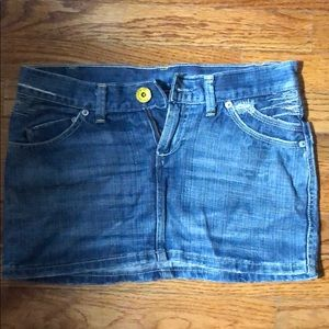 H & M denim mini skirt size 4